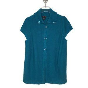 Torrid Button Front Short Sleeved Sweater EUC Sz 0
